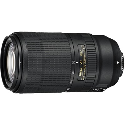 AF-P NIKKOR 70-300mm f/4.5-5.6E ED VR Fixed Zoom Digital SLR Lens, Black