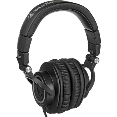 ATH-M50 Professional Studio Monitor Headphones with Coiled Cable Refurbished
