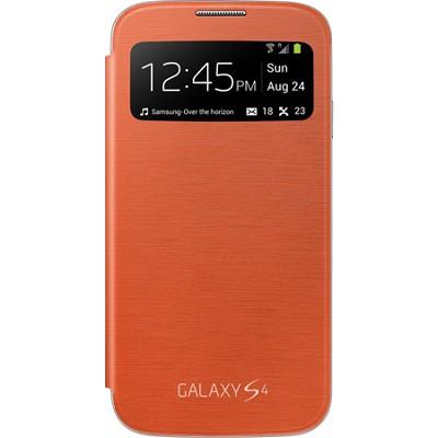 Galaxy S IV S-view Flip Cover Orange