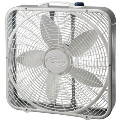 20-Inch Premium Box Fan 3-Speed - White, 3723
