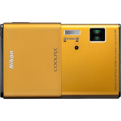 COOLPIX S80 14.1 MP Ultra-Slim 3.5 in Touchscreen Gold Camera w/ HD Video