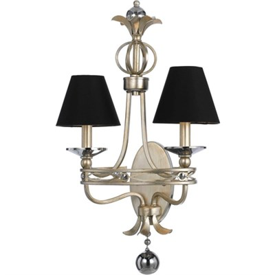Cirque Two Light Sconce- Black Shades - 8702-2W
