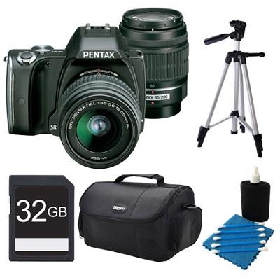 K-S1 Black Digital SLR Camera with 18-55mm Lens and 50-200mm Lens 32GB Bundle