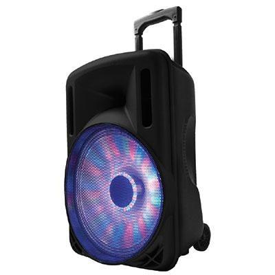 12` Portable Bluetooth DJ Speaker in Black - IQ-3212DJBT