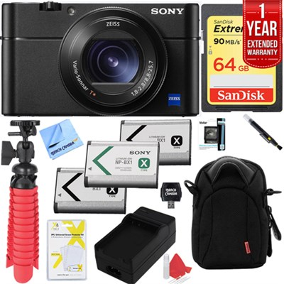 DSC-RX100 V 20.1MP Cyber-shot Digital Camera with 64GB Extended Warranty Kit