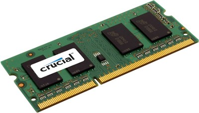 2GB 204 pin SODIMM module DDR3 PC3 8500 1066 MHz, unbuffered non-ECC