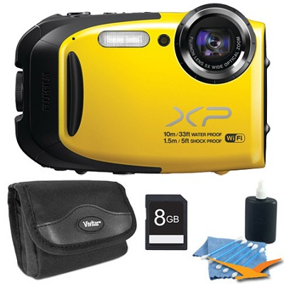 FinePix XP70 Waterproof/Shockproof Digital Camera Yellow 8GB Kit