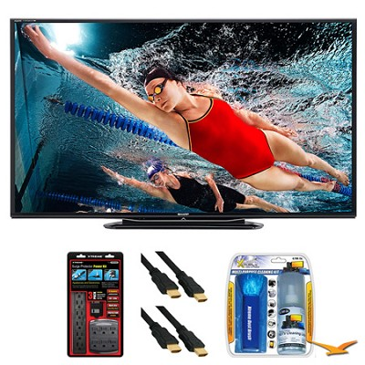 LC-80LE757U Aquos 80` 3D WiFi 240Hz 1080p LED TV Surge Protector Bundle