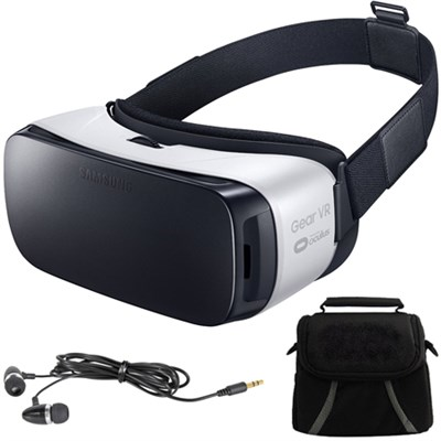 Gear VR Virtual Reality Headset - SM-R322NZWAXAR - Ear Buds/Bag Bundle