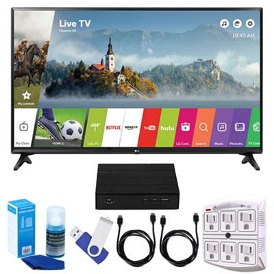 43` Full HD 1080p Smart LED TV (2017) + Terk HD TV Tuner 16GB Hook-Up Bundle