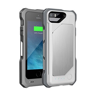 ArmorPro iPhone 6 Battery Charger Hard Shell Case 3500 mAh - Silver/TPU