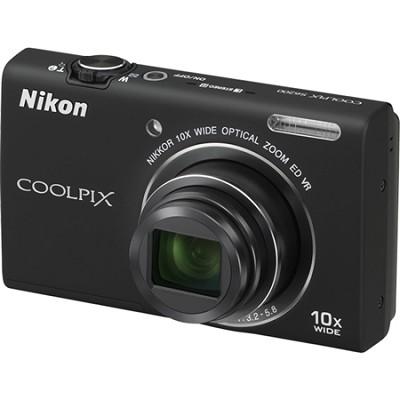 COOLPIX S6200 Black 10x Zoom 16MP Digital Camera