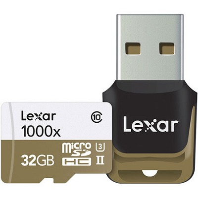 32 GB High-Performance 1000x microSDHC/SDXC UHS-II Memory Card