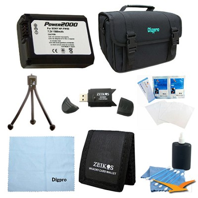 Loaded Value NP-FW50 Battery Kit for Sony NEX-5N, NEX-7