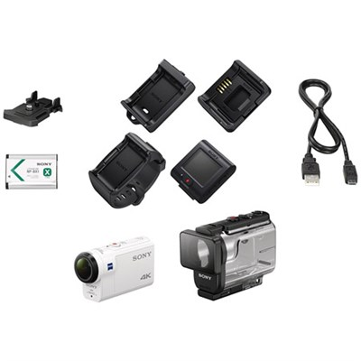 FDR-X3000R 4K HD Recording Action Camera w/Live View Remote Kit - OPEN BOX