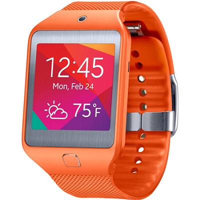 Gear 2 Neo Dust and Water Resistant Orange Watch with Heart Rate Sensor
