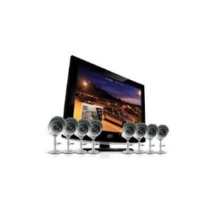 19` LCD All-In-One Security System with 4 Hi-Res Indoor/Outdoor Cameras