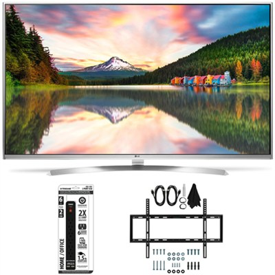 55UH8500 - 55-Inch Super Ultra HD 4K Smart LED TV Slim Flat Wall Mount Bundle