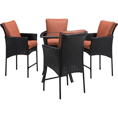 Strathmere Allure 5-Piece High-Dining Set - STRALHBR5PCSQ-RST