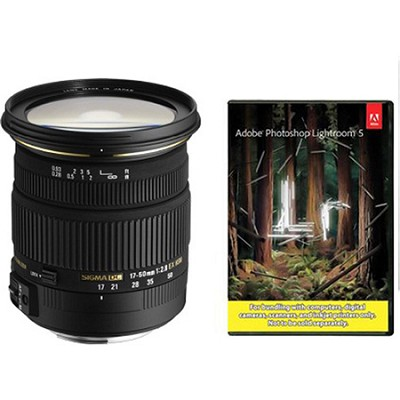 17-50mm f/2.8 EX DC OS HSM FLD Standard Zoom Lens for Canon DSLR w/ Lightroom