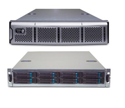 4x1GbE iSCSI SAN Array, 2U, w/o Drives, with Trays, 8 bay storage unit