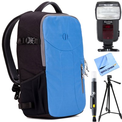 Nagano 16L Camera Backpack (River Blue) with Flash Bundle for Canon