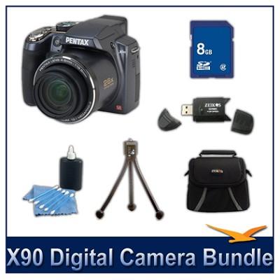 X90 26x Zoom Digital Camera 8GB Bundle