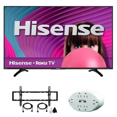 H4 48` Class 60Hz Full HD 1080P ROKU Smart LED TV w/ accessory bundle
