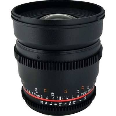 CV16M-C 16mm T2.2 Cine Wide Angle Lens for Canon EF Mount - OPEN BOX