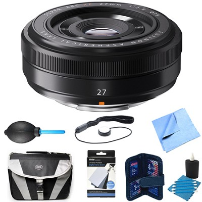 Fujinon XF 27mm (41mm) F2.8 Black X-Mount Lens Bundle