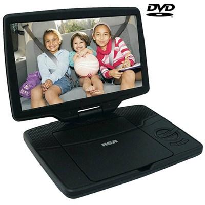 Portable DVD Player 10` Swivel Display, Black (Certified Refurbished)