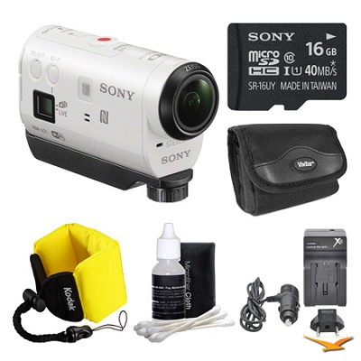 HDR-AZ1/W POV HD Camcorder 16GB Bundle