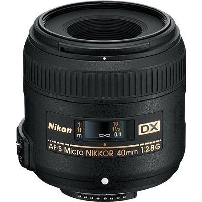 AF-S DX Micro-Nikkor 40mm F/2.8 G Lens - Factory Refurbished