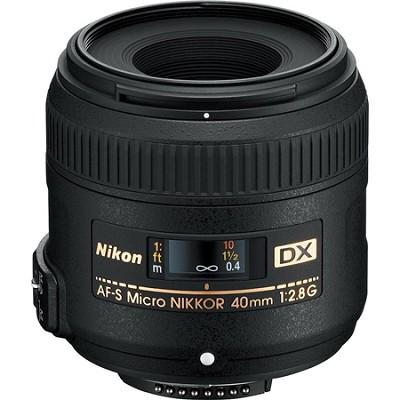 AF-S DX Micro-Nikkor 40mm F/2.8 G Lens - Factory Refurbished