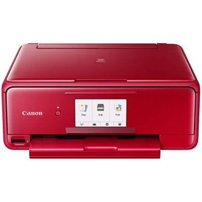 PIXMA TS8120 Wireless Inkjet All-in-One Printer with Scanner & Copier (Red)