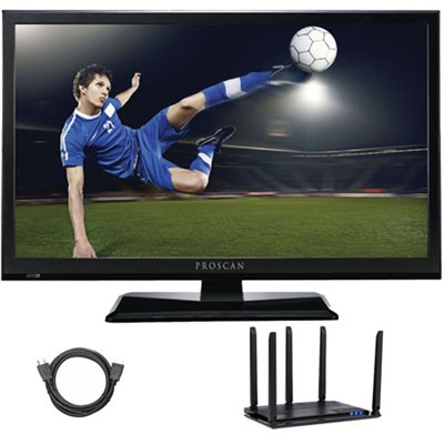 PLEDV2488A-E 24-Inch LED TV-DVD w/ Antenna + 6FT HDMI Cable Cut The Cord Bundle