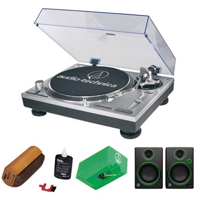 Professional Stereo Turntable w/ USB LP to DIG - Silver w/ Exclusive Bundle
