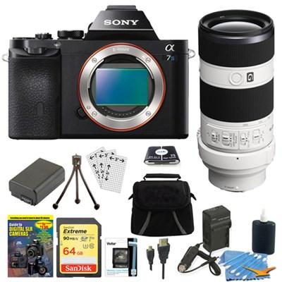 ILCE-7S/B a7S Full Frame Camera + SEL 70-200mm F4 G OIS Lens Accessory Bundle
