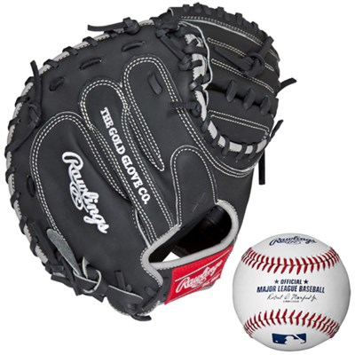 Heart of the Hide 33` Dual Core Catcher's Mitt w/ Rawlings Baseball