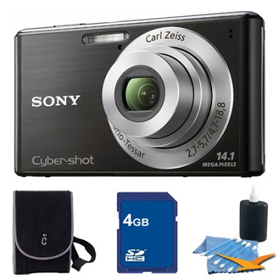 Cyber-shot DSC-W530 Black Digital Camera 4GB Bundle
