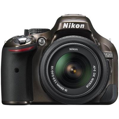 D5200 DX-Format Bronze DSLR Camera with 18-55mm VR Lens - Factory Refurbished