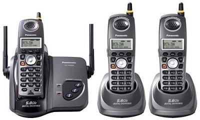KX-TG5623B 5.8 GHz FHSS GigaRange Digital Cordless Phone with 3-Handsets