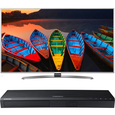 60-in Super UHD Smart TV w/ webOS 3.0 - 60UH7700+Samsung UBD-K8500 UHD BR Player
