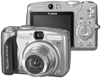 Powershot A710 IS Digital Camera Kit