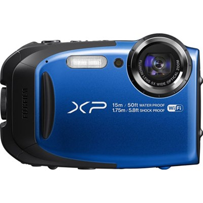 FinePix XP80 16MP Waterproof Digital Camera (Blue) Factory Refurbished