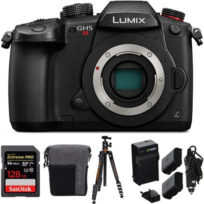 LUMIX GH5S 10.2MP C4K Mirrorless ILC Camera (Body Only) With 128 GB Bundle