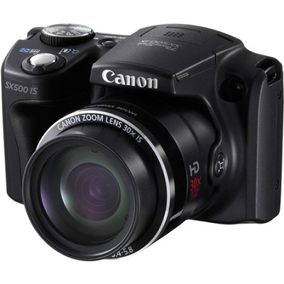 PowerShot SX500 IS 16MP Digital Camera (Black)