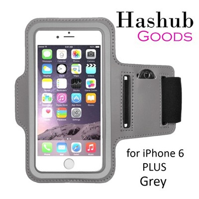 Sports Running Armband for iPhone 6 Plus/Galaxy S6/S6 Edge/Note 4/LG G3 in Grey