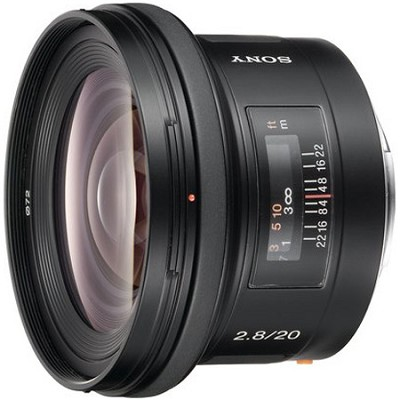 SAL20F28 - 20mm f2.8 Wide-Angle A-Mount Lens