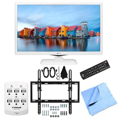 24LF4520-WU - 24-Inch HD 720p 60Hz LED TV (White) Flat & Tilt Wall Mount Bundle
